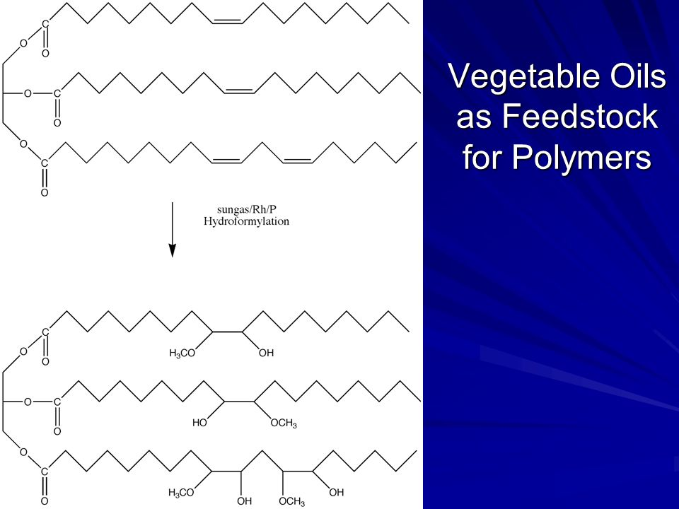 Vegetable Oils as Feedstock for Polymers