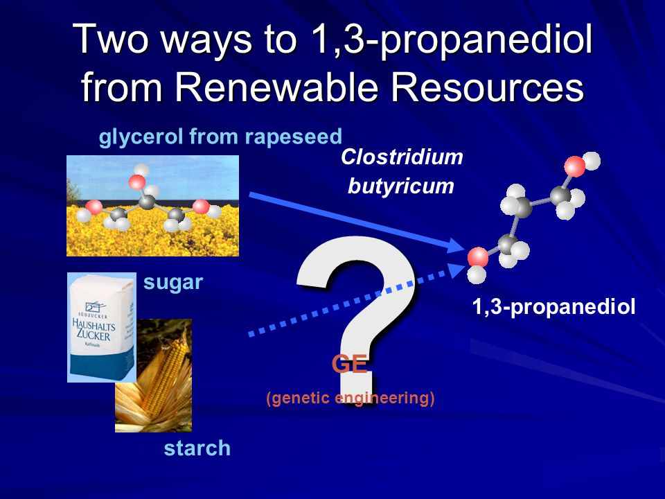 Two ways to 1,3-propanediol from Renewable Resources