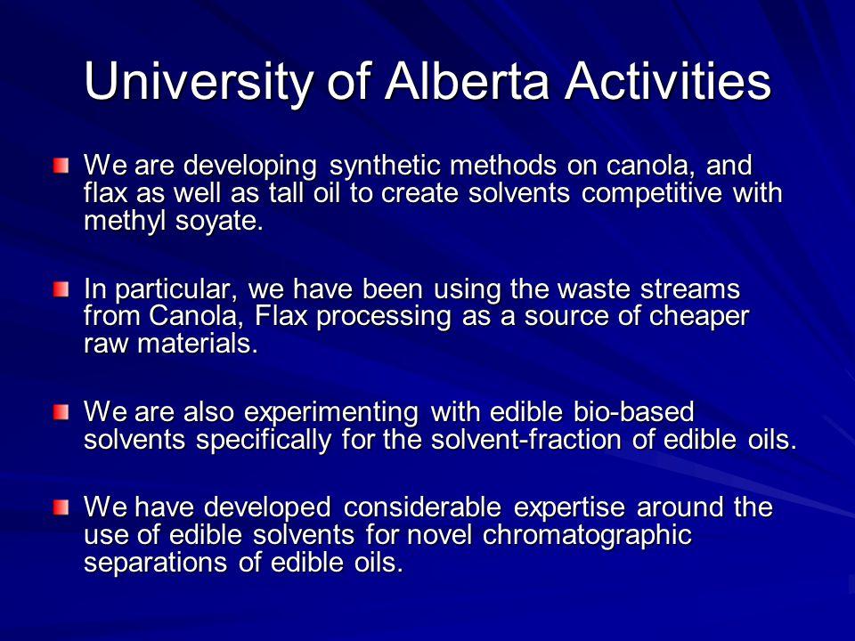 University of Alberta Activities