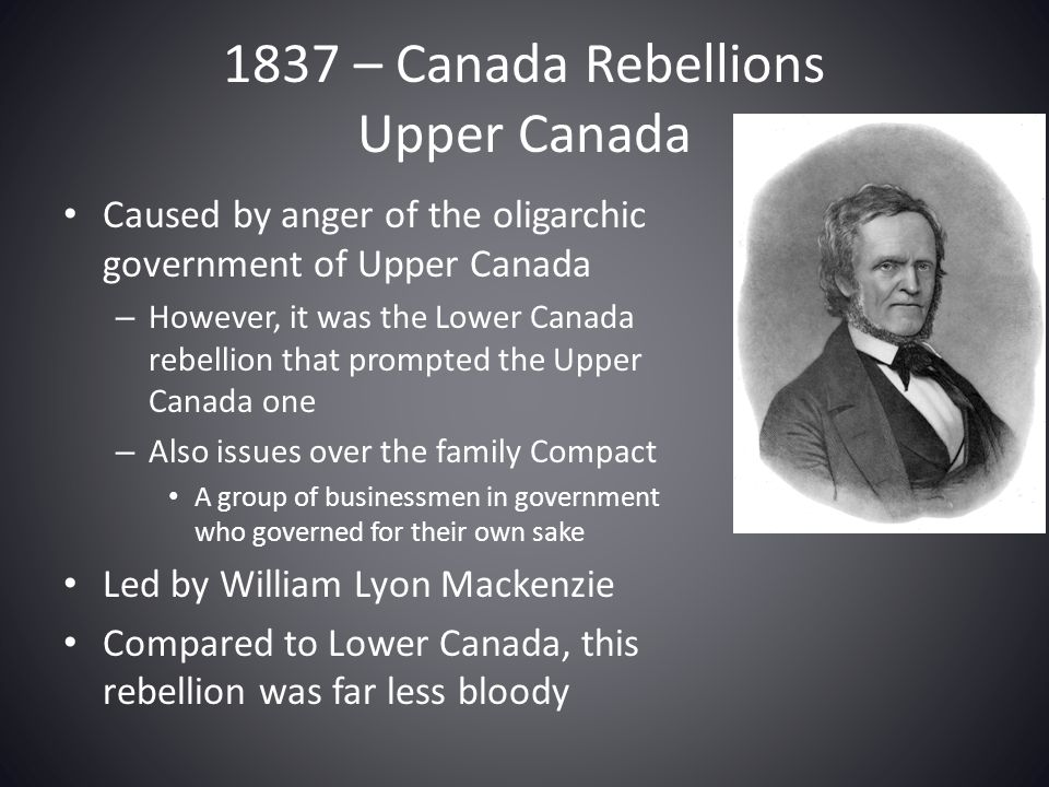 the rebellions of upper and lower With the 1837 rebellion came many different views and thoughts on what  but  did affect the way people in upper and lower canada viewed.