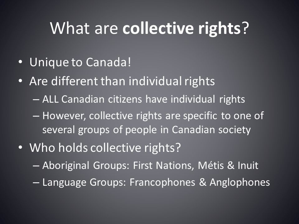 What are collective rights