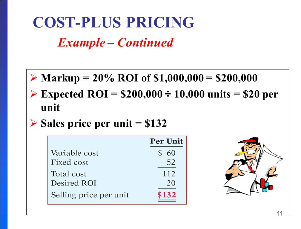 COST-PLUS PRICING Example – Continued