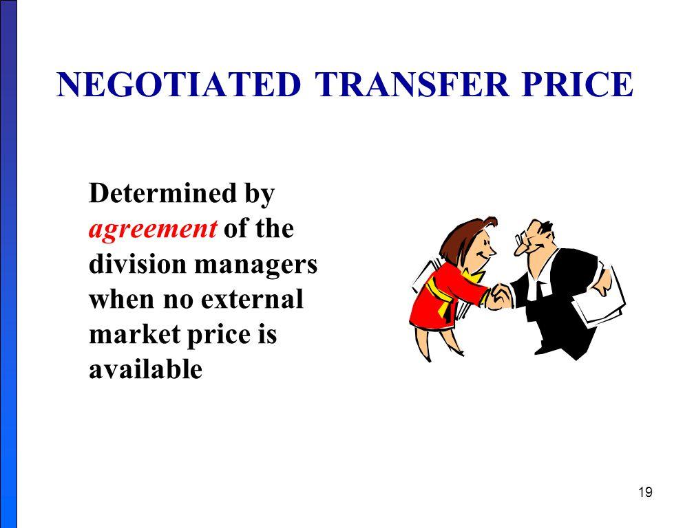 NEGOTIATED TRANSFER PRICE