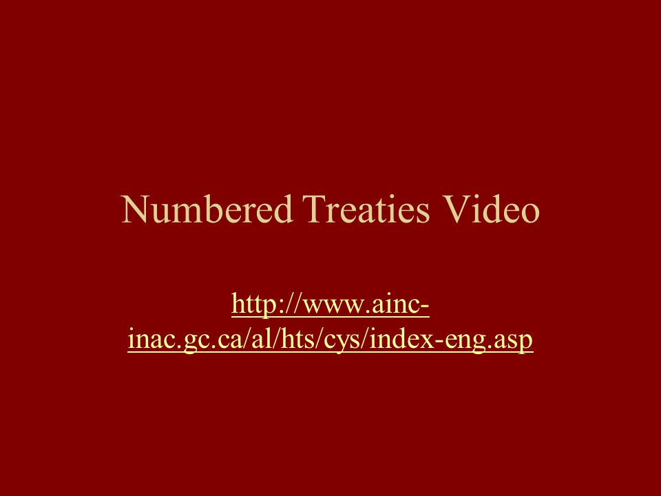 Numbered Treaties Video