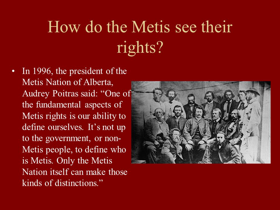 How do the Metis see their rights