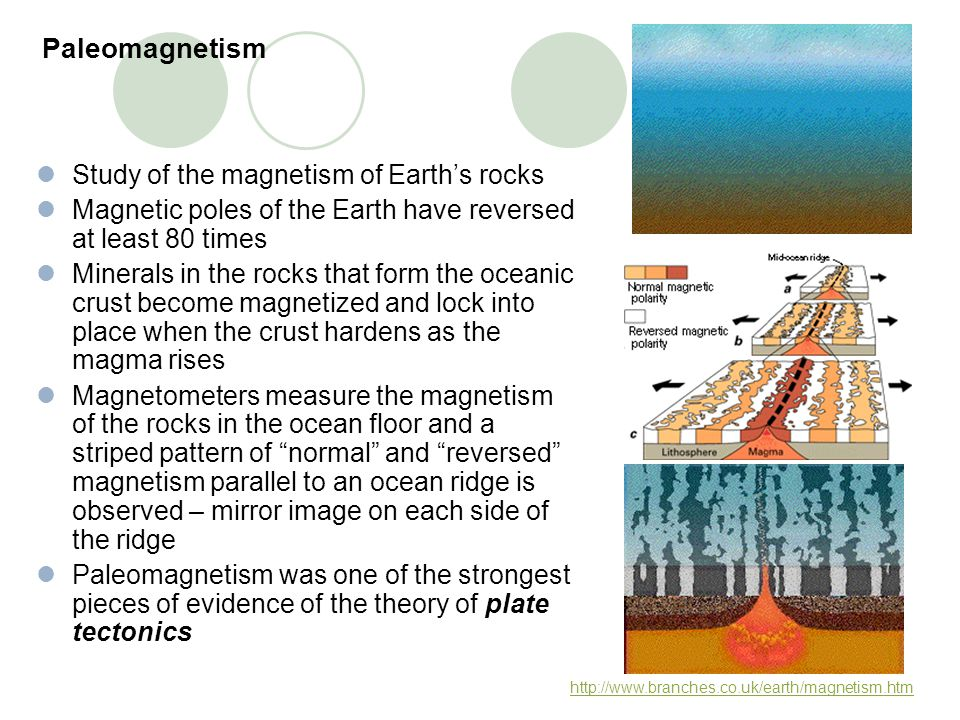 Paleomagnetism Study of the magnetism of Earth's rocks
