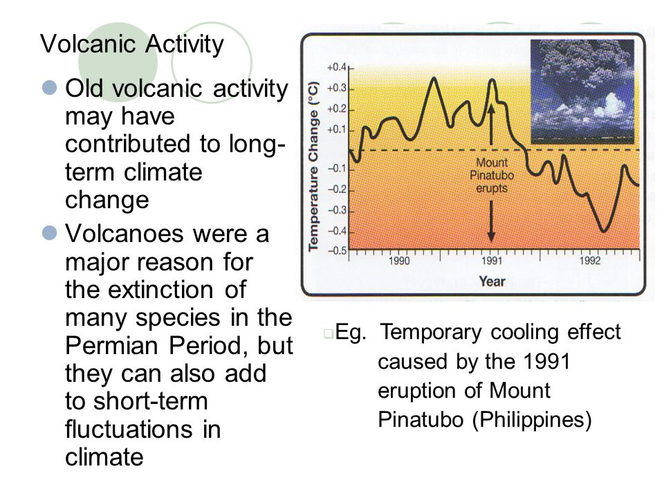 Old volcanic activity may have contributed to long-term climate change