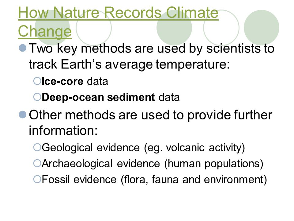 How Nature Records Climate Change