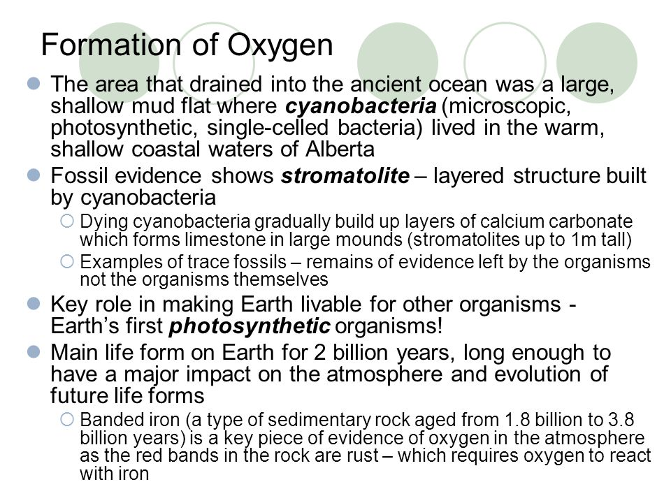 Formation of Oxygen