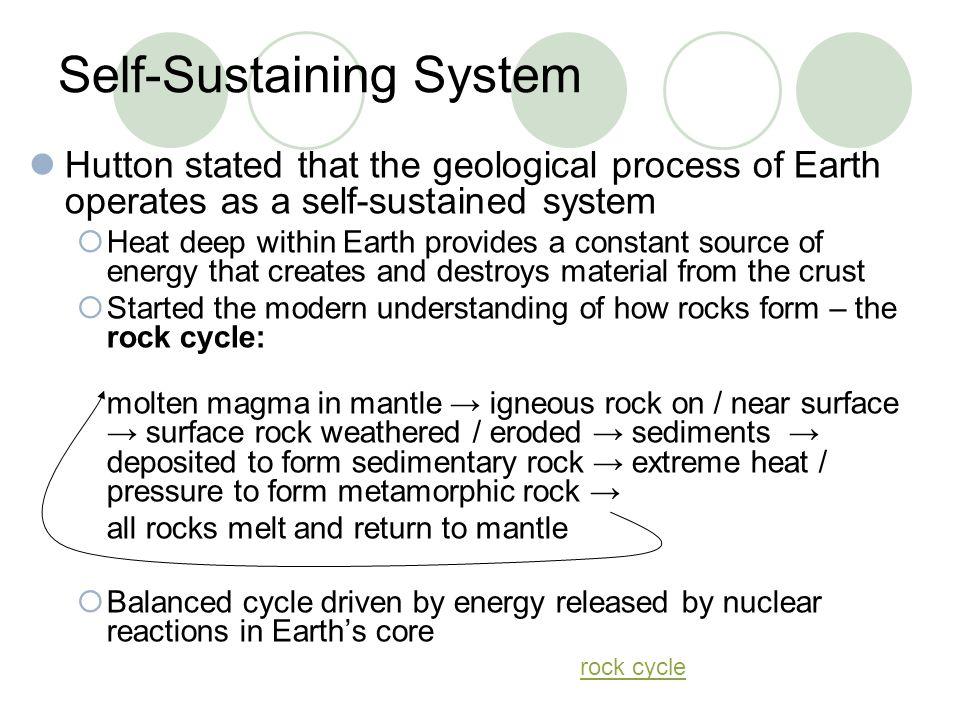 Self-Sustaining System