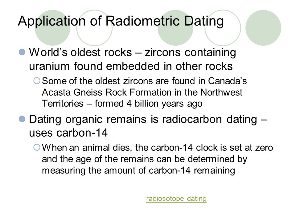 Acasta gneiss radiometric dating