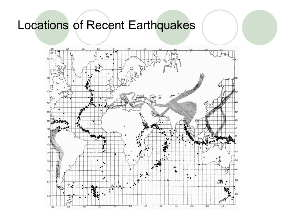 Locations of Recent Earthquakes