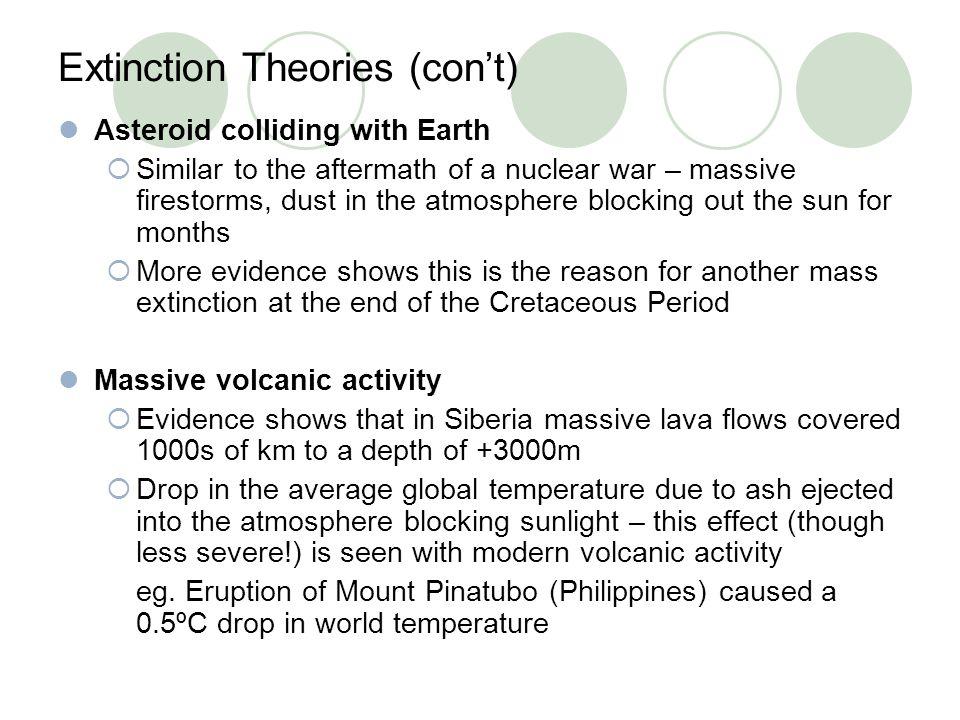 Extinction Theories (con't)