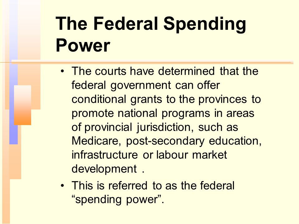 The Federal Spending Power