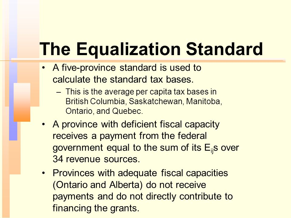 The Equalization Standard