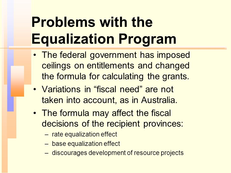 Problems with the Equalization Program