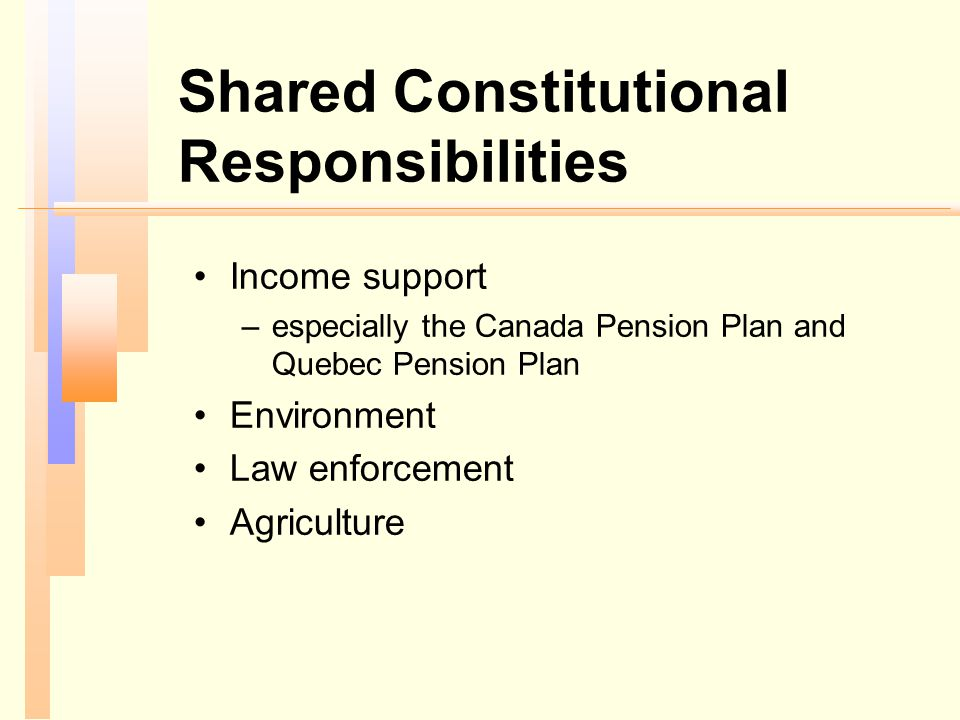 Shared Constitutional Responsibilities
