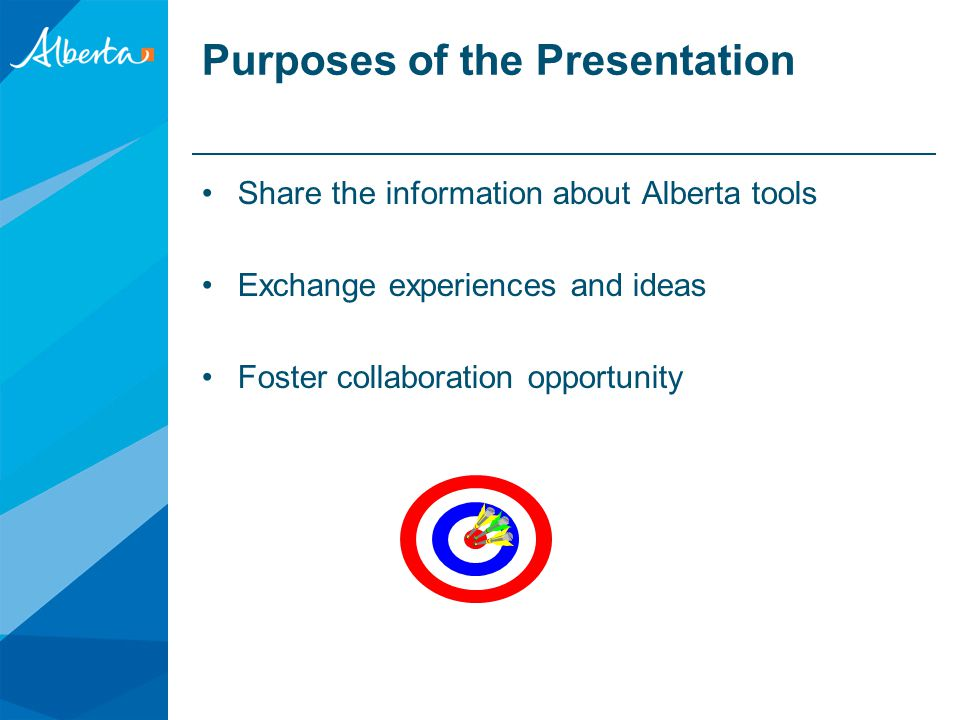 Purposes of the Presentation