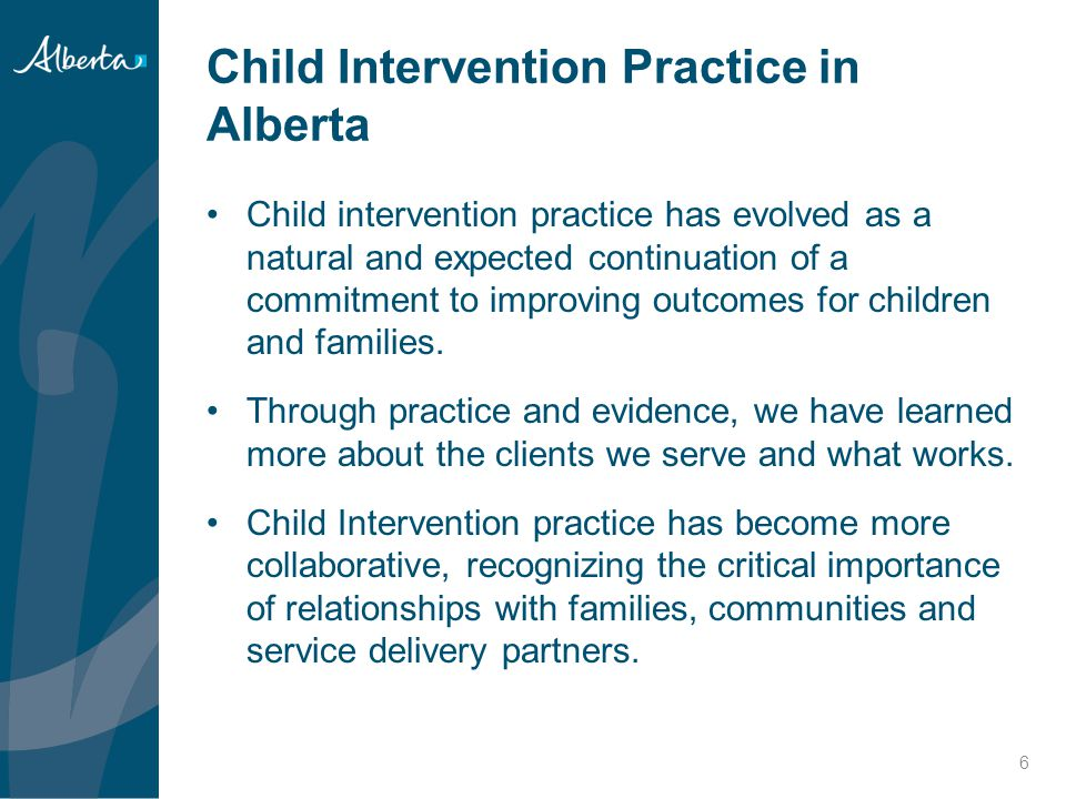 Child Intervention Practice in Alberta