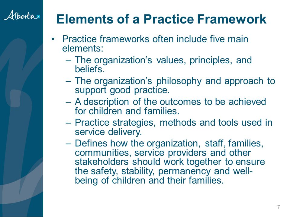 Elements of a Practice Framework