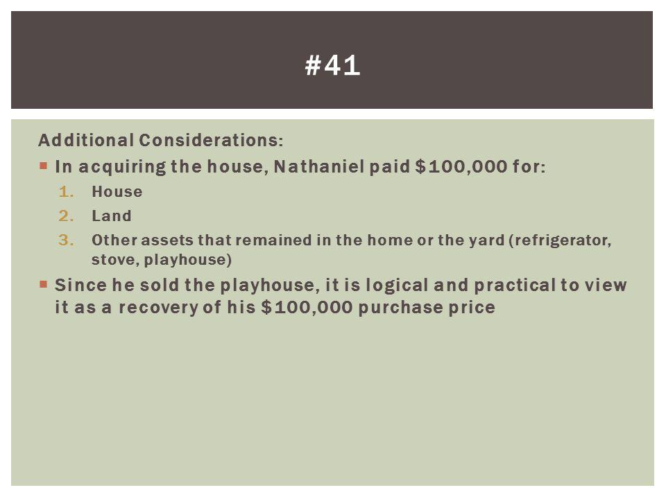 #41 Additional Considerations: