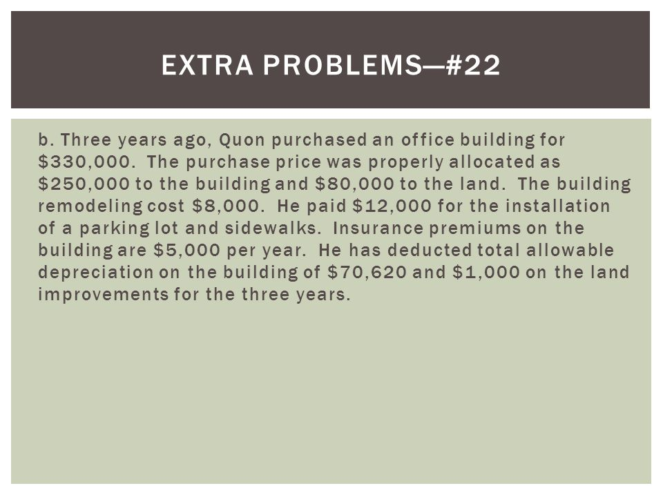 Extra problems—#22