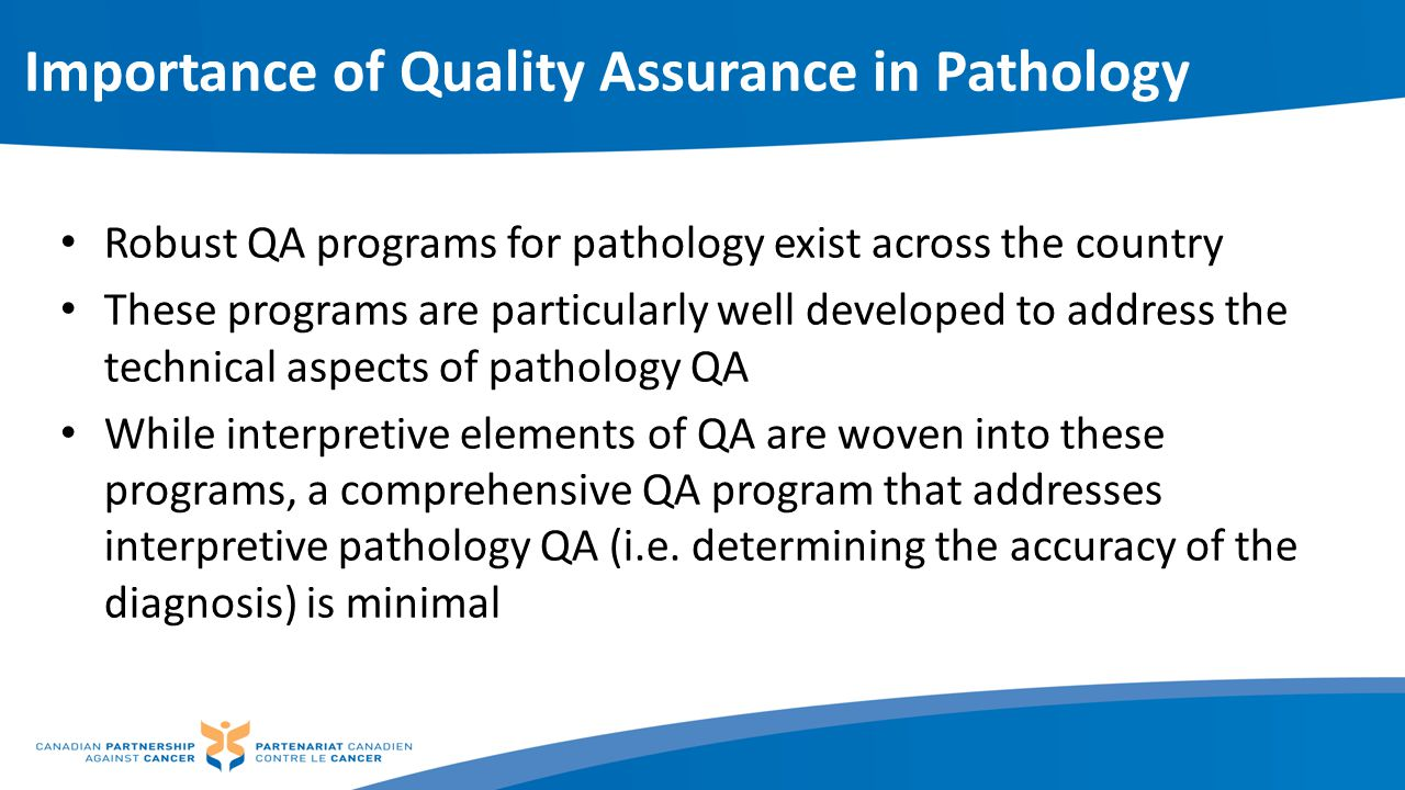 Importance of Quality Assurance in Pathology