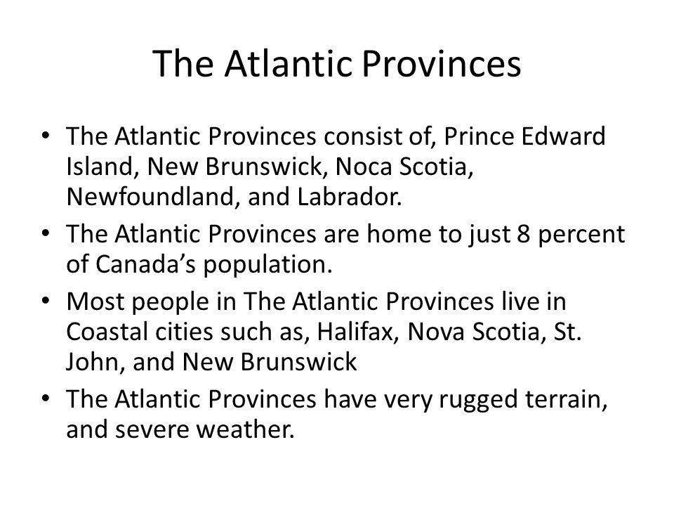 The Atlantic Provinces