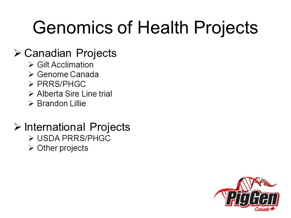 Genomics of Health Projects