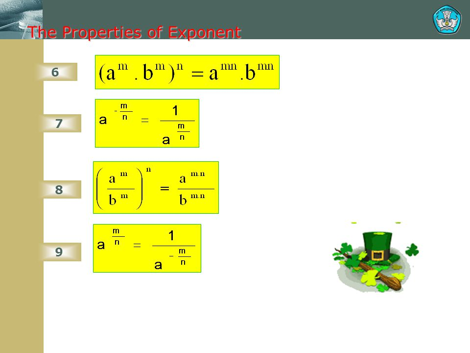 The Properties of Exponent
