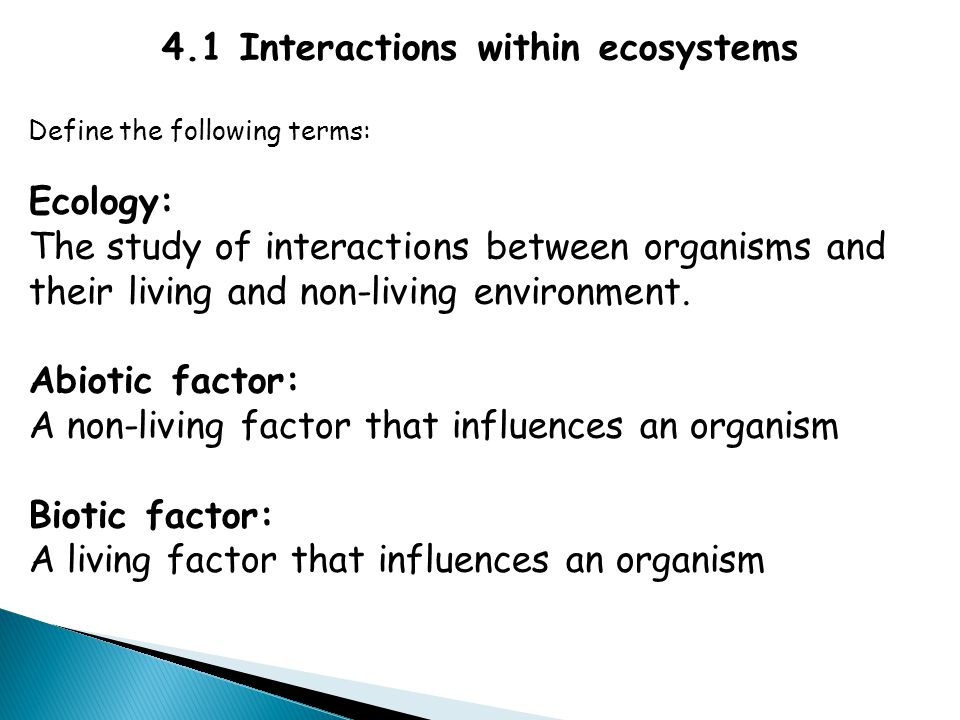 4.1 Interactions within ecosystems