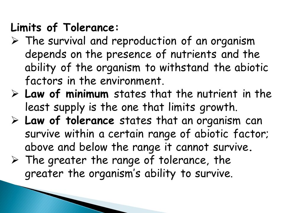 Limits of Tolerance: