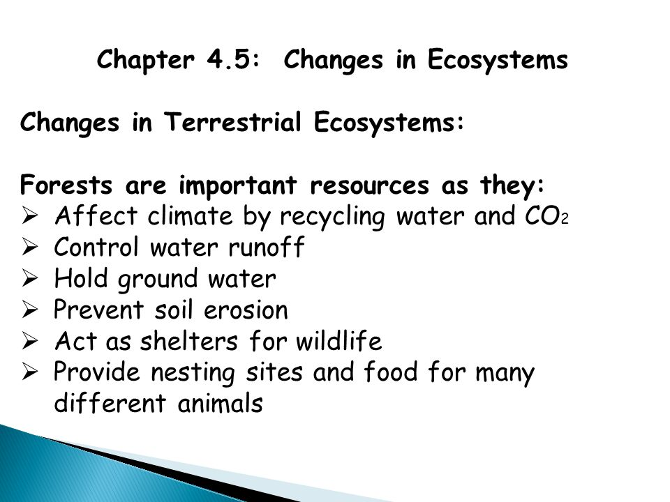 Chapter 4.5: Changes in Ecosystems