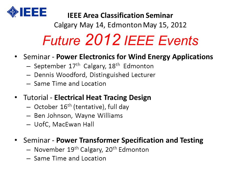 Seminar - Power Electronics for Wind Energy Applications