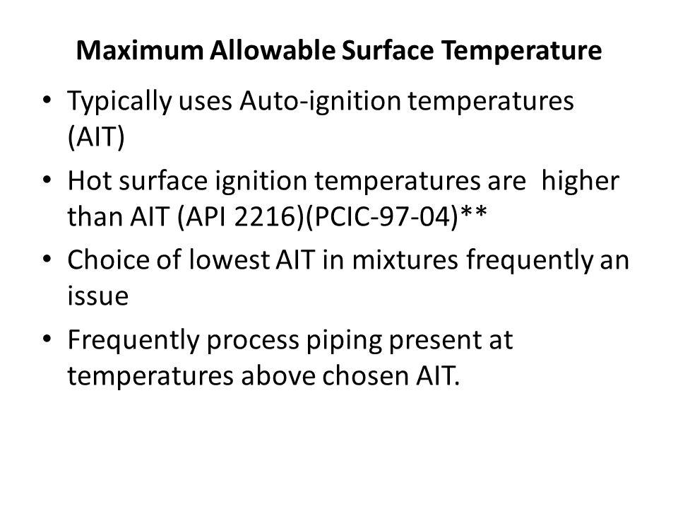Maximum Allowable Surface Temperature