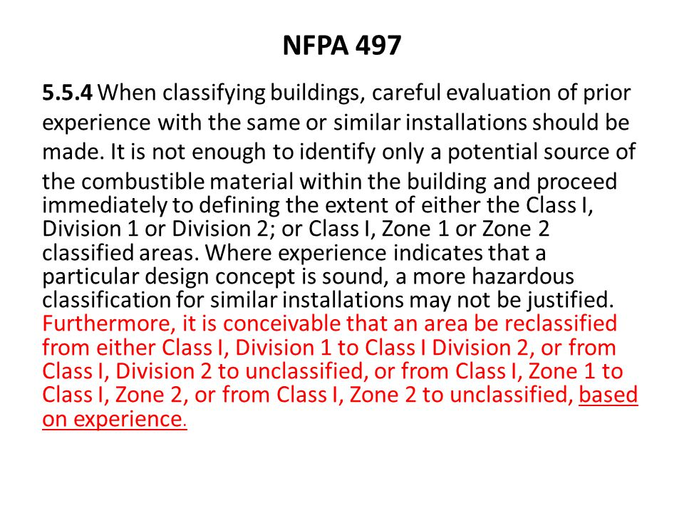 NFPA 497