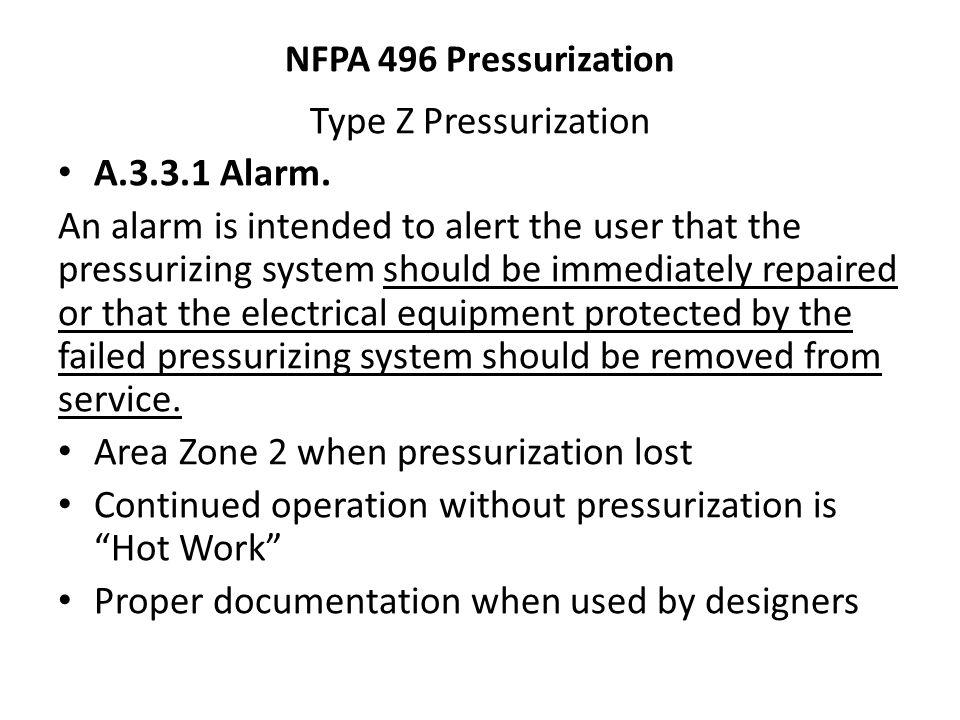 Area Zone 2 when pressurization lost