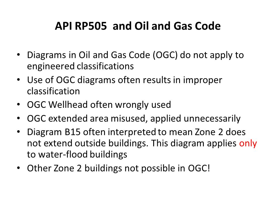 API RP505 and Oil and Gas Code