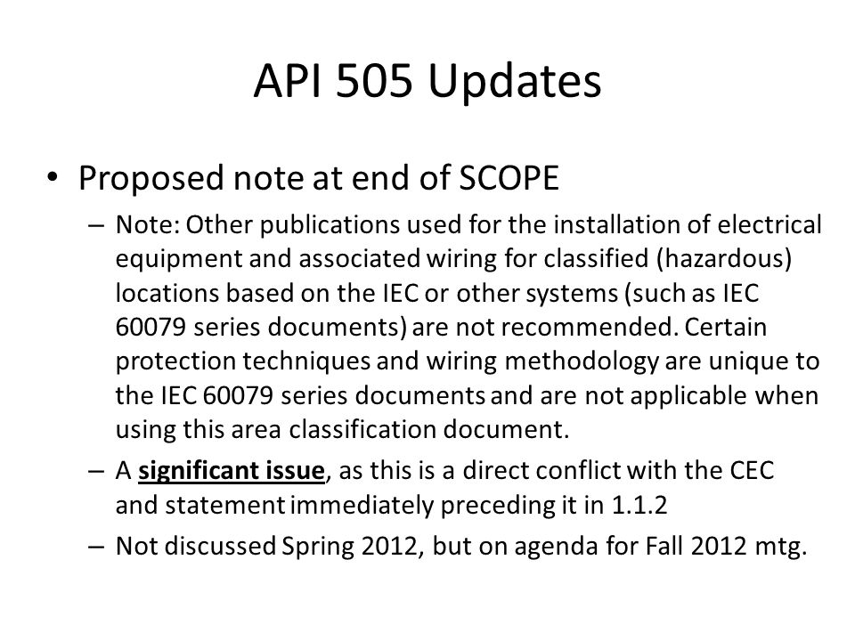 API 505 Updates Proposed note at end of SCOPE