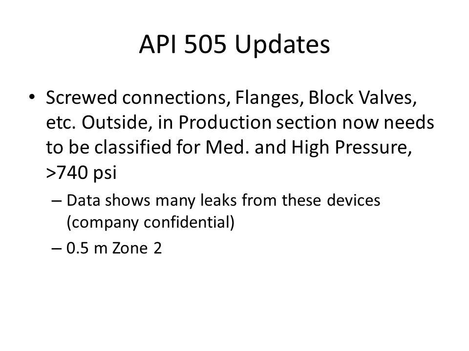 API 505 Updates