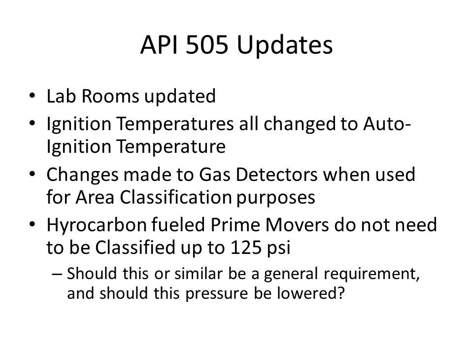 API 505 Updates Lab Rooms updated