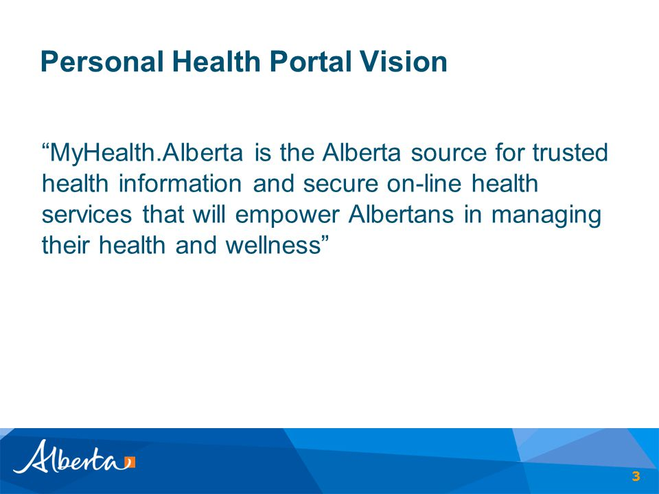 Personal Health Portal Vision