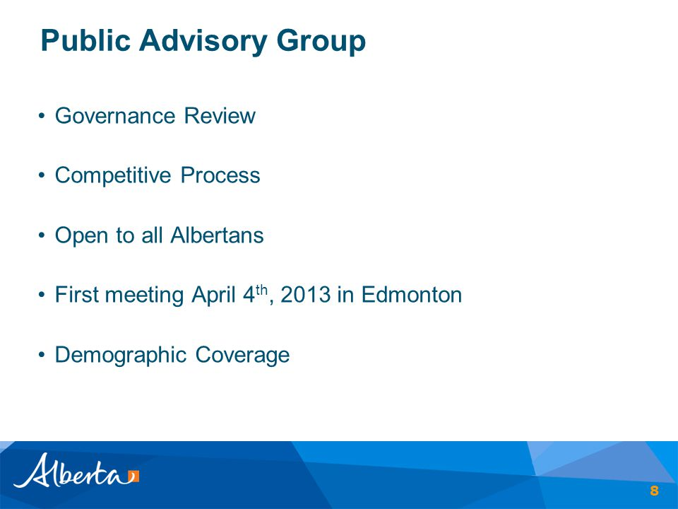 Public Advisory Group Governance Review Competitive Process