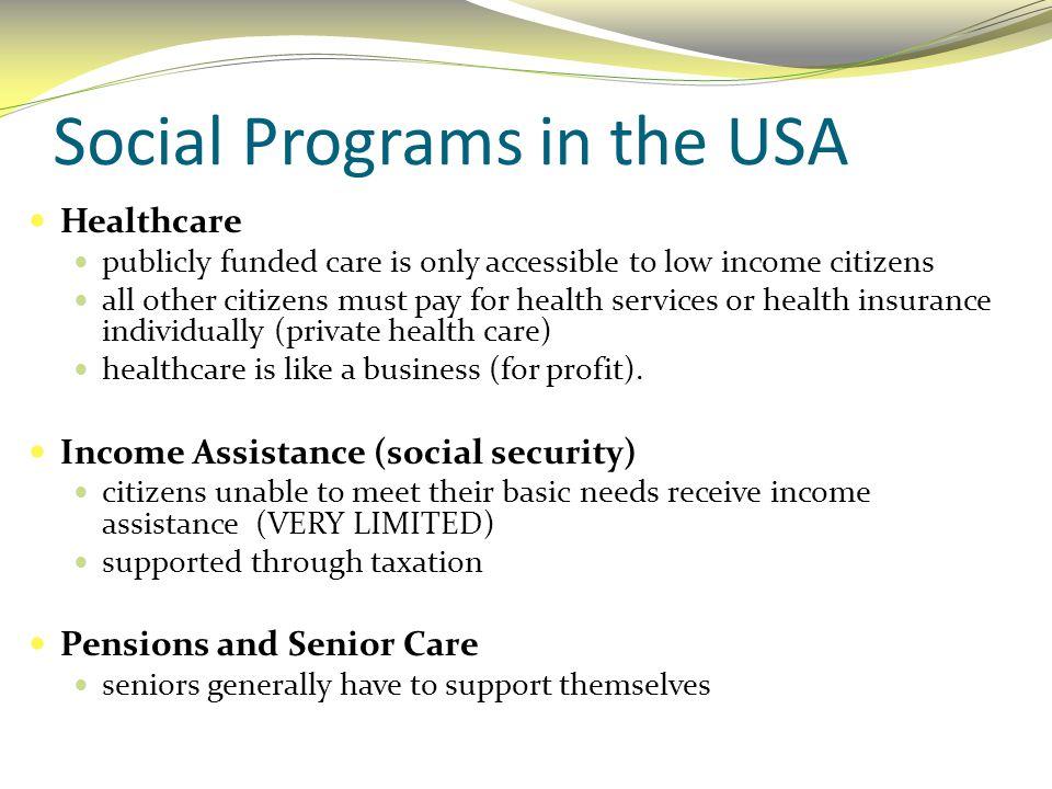 Social Programs in the USA