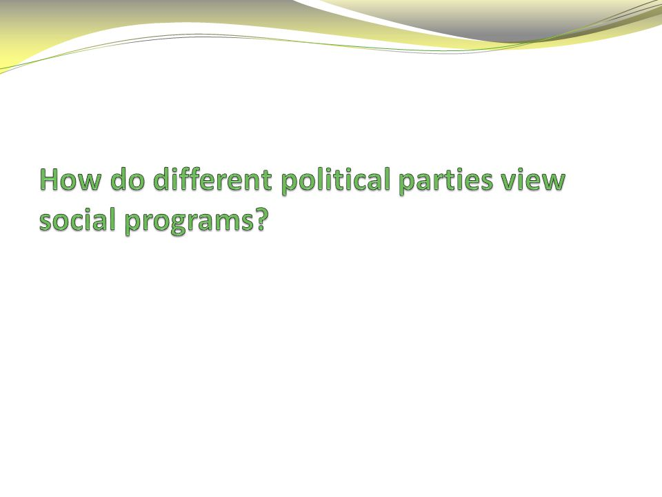 How do different political parties view social programs