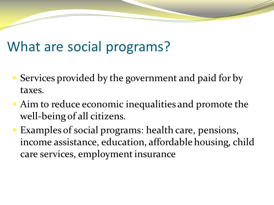 What are social programs