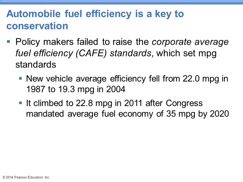 Automobile fuel efficiency is a key to conservation