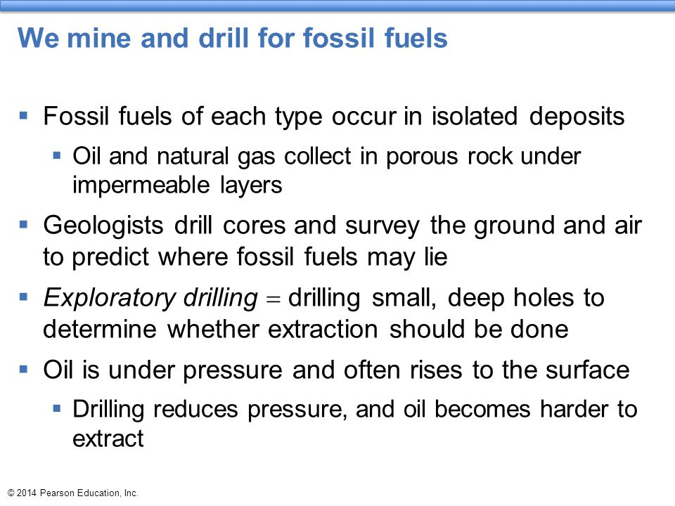 fossil fuels are found in what type of rock