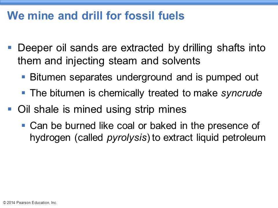We mine and drill for fossil fuels