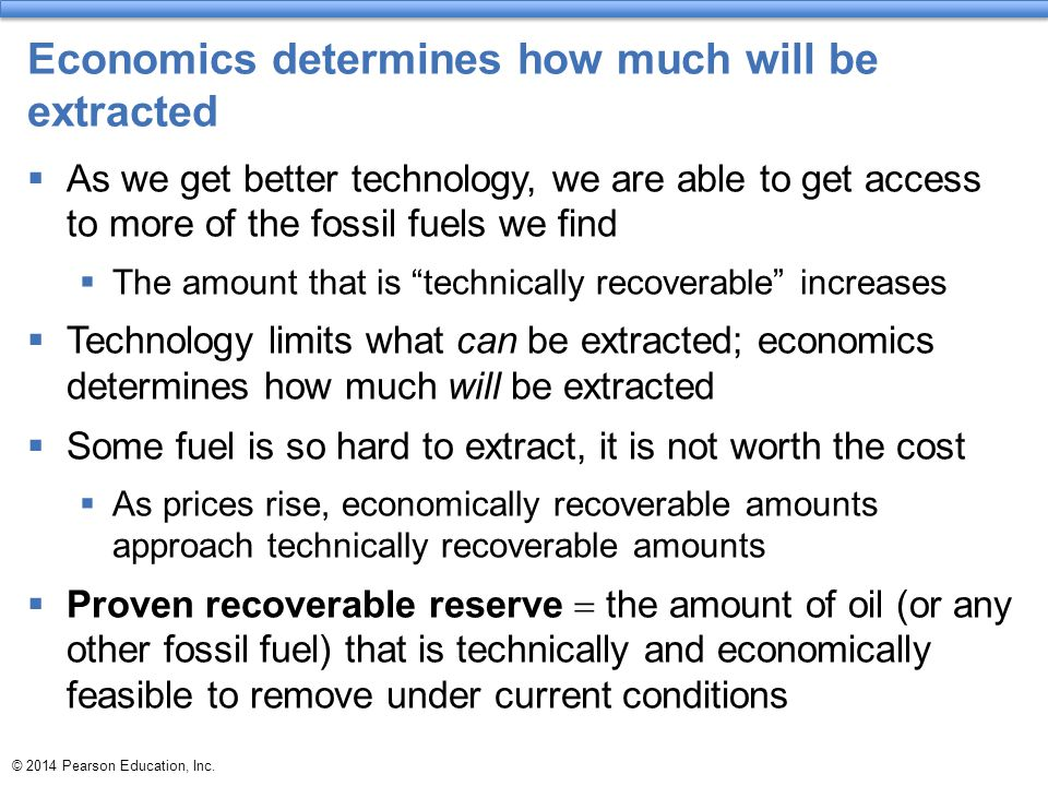 Economics determines how much will be extracted